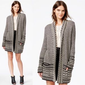 Lucky Brand Printed Open Cardigan Sweater